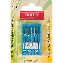 Aghi per macchine da cucire - Bohin - 5 aghi standard 70/80/90