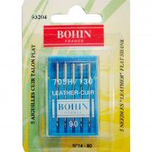 Aghi per macchine da cucire - Bohin - 5 aghi in pelle