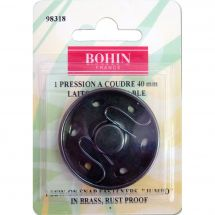 Bottoni a pressione - Bohin - Bottone della pressa per cucire in ottone nero - 40 mm