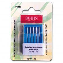 Aghi per tagliacuci - Bohin - 5 aghi over lock n°11-75