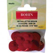 Perline e paillettes - Bohin - Paillettes sequin 15 mm - Rosso
