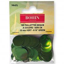 Perline e paillettes - Bohin - Paillettes sequin 15 mm - Verde