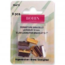Supporto gioielli - Bohin - 9 chiusure per bracciali - 15 mm