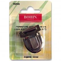 Chiusura della borsa - Bohin - Chiusura cartella 19 mm - argento