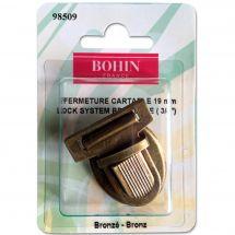 Chiusura della borsa - Bohin - Chiusura cartabile 19 mm - bronzo
