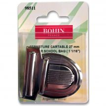 Chiusura della borsa - Bohin - Chiusura cartella 27 mm - argento