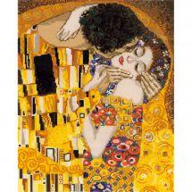 Kit punto croce con perle - Riolis - Il bacio di Klimt