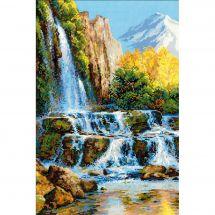 Kit Punto Croce - Riolis - La cascata