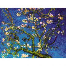Kit Punto Croce - Riolis - Mandorlo in fiore secondo Vaglio Gogh