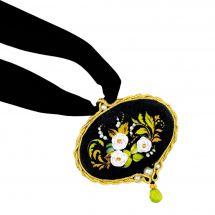 Kit gioielli da ricamo - Riolis - Ciondolo fiori