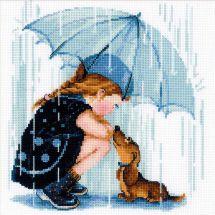 Kit Punto Croce - Riolis - Sotto il mio ombrello