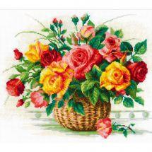 Kit Punto Croce - Riolis - Il paniere di rose
