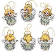 Kit di ornamenti da ricamare - Riolis - Decorazione di piccoli angeli