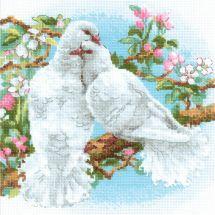 Kit Punto Croce - Riolis - colombe bianche
