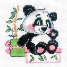 Kit Punto Croce - Riolis - Regalo panda
