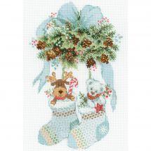 Kit Punto Croce - Riolis - Orso e cervo di Natale