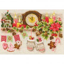 Kit Punto Croce - Riolis - Scaffale di Natale