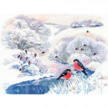 Kit Punto Croce - Riolis - Fiume d'inverno
