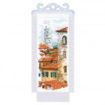 Kit per banner da ricamo - Riolis - Tetti di Pisa