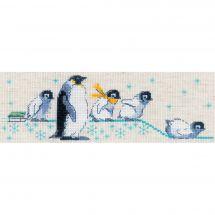 Kit Punto Croce - Riolis - Cuscino da ricamare Pinguini