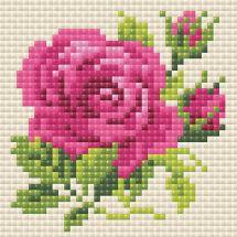 Kit ricamo diamante - Riolis - Rose rosa