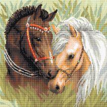 Kit ricamo diamante - Riolis - Coppia di cavalli