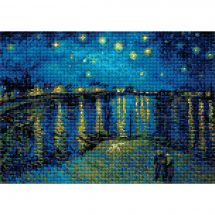 Kit ricamo diamante - Riolis - Notte stellata sul Rodano secondo Van Gogh