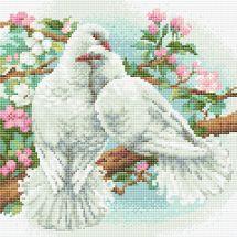 Kit ricamo diamante - Riolis - colombe bianche