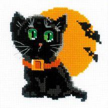 Kit Punto Croce - Riolis - Gatto nero