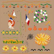 Kit Punto Croce - Un point pour toi - Novembre