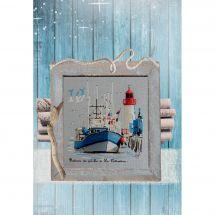 Foglio di punto croce - Isabelle Haccourt Vautier - Nel porto di La Cotinière