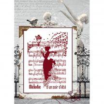 Foglio di punto croce - Isabelle Haccourt Vautier - Melodia di una sera d'estate