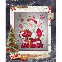 Foglio di punto croce - Isabelle Haccourt Vautier - Piccolo Babbo Natale