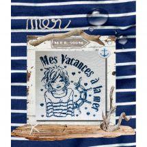 Foglio di punto croce - Isabelle Haccourt Vautier - La mia vacanza al mare