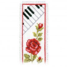 Kit segnalibro da ricamo - Vervaco - Tastiera de pianoforte