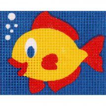 Kit di tela per bambini - Vervaco - Il pesce