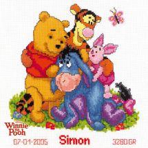 Kit Punto Croce - Vervaco - Winnie e i suoi amici