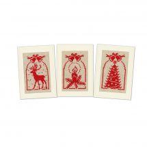 Kit bigliettini da ricamare - Vervaco - 3 biglietti Campane di Natale