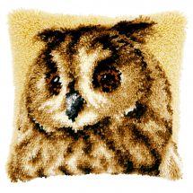 kit cuscini punto smirne - Vervaco - Cuscino da ricamare Il gufo