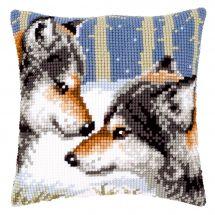 Kit cuscino fori grossi - Vervaco - 2 lupi