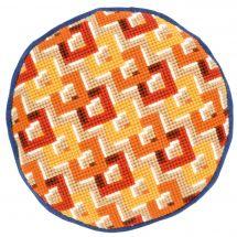 Kit cuscino fori grossi - Vervaco - Losanghe multicolori