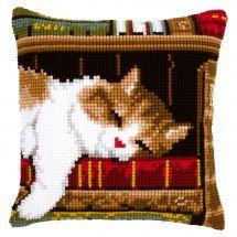 Kit cuscino fori grossi - Vervaco - Cuscino da ricamare gatto che dorme