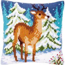 Kit cuscino fori grossi - Vervaco - Cervi in inverno