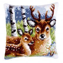 Kit cuscino fori grossi - Vervaco - Famiglia di cervi