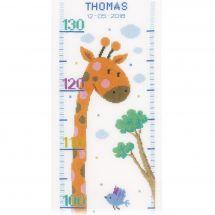 Kit di metri crescita da ricamo - Vervaco - Cuscino da ricamare giraffa