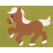 Kit di tela per bambini - Vervaco - Il pony