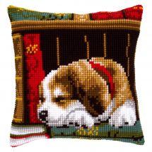 Kit cuscino fori grossi - Vervaco - Cuscino da ricamare cane che dorme