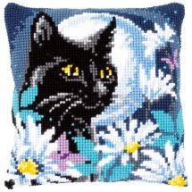 Kit cuscino fori grossi - Vervaco - Gatto nella notte