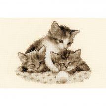Kit Punto Croce - Vervaco - Tre piccoli gattini