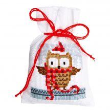 Kit sacchetto profumato da ricamo - Vervaco - Amici di Natale